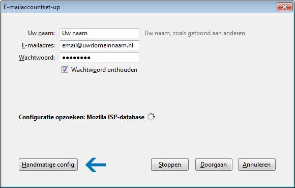 E-mailaccount instellen Thunderbird 4